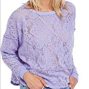 Free People New Romantics Lilac Lace Pullo…